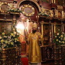 Архиепископ Матфей совершил Литургию в храме Покрова Пресвятой Богородицы в Медведково