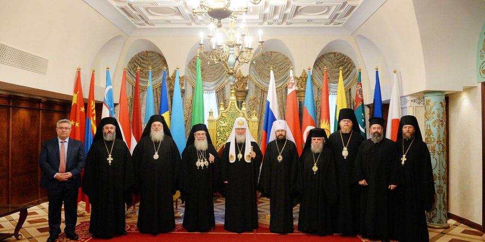 Встреча Святейшего Патриарха Кирилла с Патриархом Иерусалимским Феофилом III