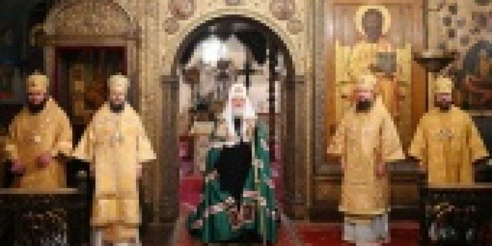 Патриаршая проповедь в праздник Собора Пресвятой Богородицы после Литургии в Успенском соборе Московского Кремля