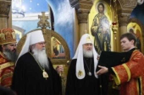 Слово Святейшего Патриарха Кирилла на Божественной литургии в храме великомученицы Екатерины на Всполье