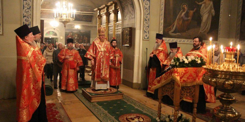 Всенощное бдение в храме святителя Николая Чудотворца в Хамовниках