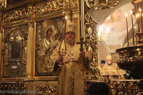 Епископ Тихон совершил богослужение в Хамовниках