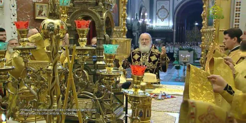 Архиепископ Матфей сослужил Святейшему Патриарху Кириллу в деньегоинтронизации
