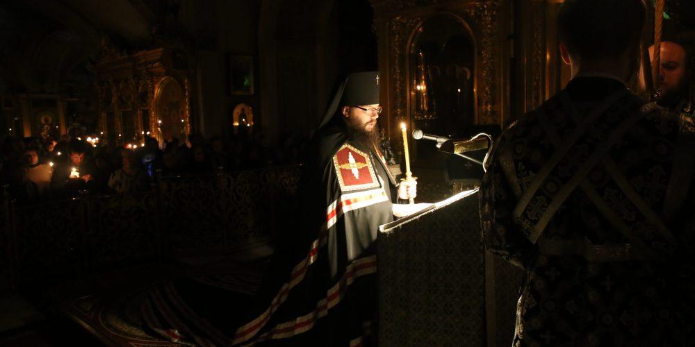 Архиепископ Матфей совершил чтение Великого покаянного канона Андрея Критского в Богоявленском кафедральном соборе в Елохове