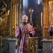 В день памяти преподобного Алексия, человека Божия, архиепископ Матфей совершил Литургию в храме Тихвинской иконы Божией Матери в Алексеевском