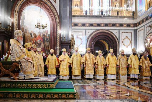Архиепископ Егорьевский Матфей сослужил Святейшему Патриарху в праздник Торжества Православия