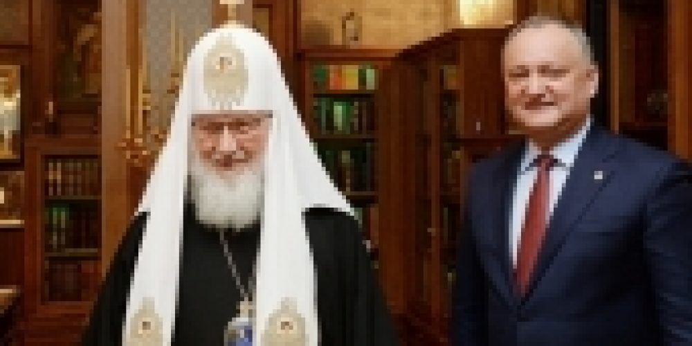 Поздравление Святейшего Патриарха Кирилла Президенту Республики Молдова И.Н. Додону с 45-летием со дня рождения