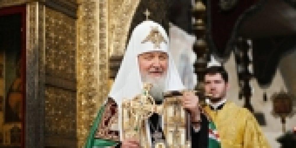 Слово Святейшего Патриарха Кирилла в день памяти святителя Петра после Литургии в Успенском соборе Московского Кремля