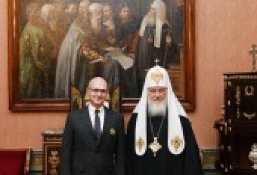 Святейший Патриарх Кирилл вручил С.В. Кириенко орден прп. Серафима Саровского III степени
