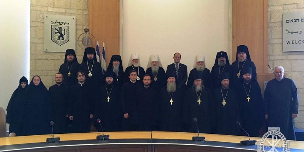 Епископ Тихон принял участие во встрече с мэром г. Иерусалим