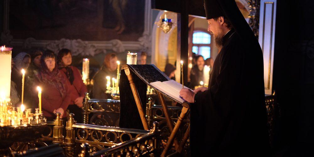 Архиепископ Солнечногорский Сергий совершил утреню с чтением канона Андрея Критского и жития Марии Египетской