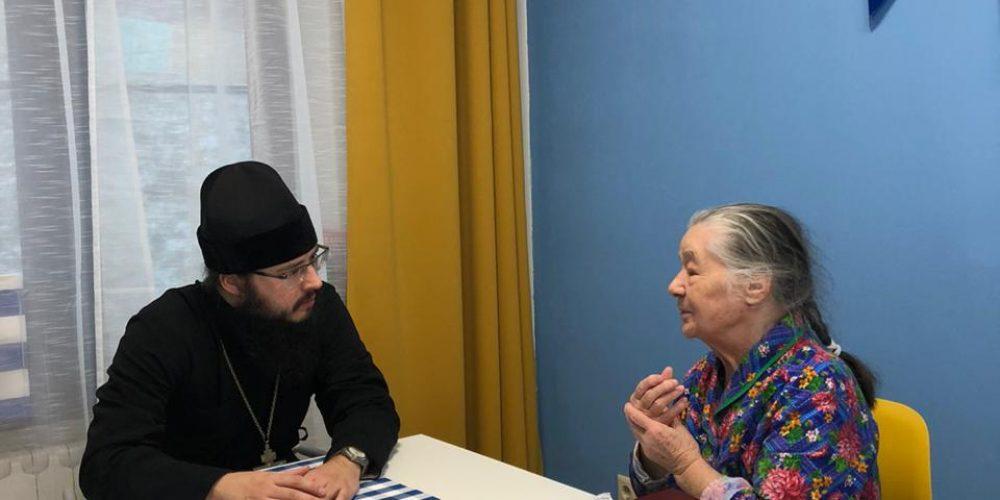 Священник Никита Иванов провел встречу с подопечными Пансионата для пожилых людей «Маяк»