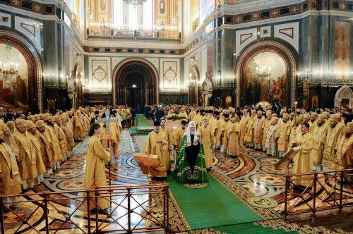 Божественная литургия перед началом XXVI Международных Рождественских чтений