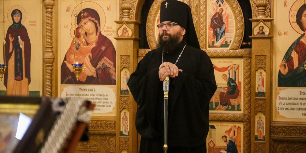 Архиепископ Матфей совершил Литургию Преждеосвященных Даров в храме Димитрия Донского в Раеве