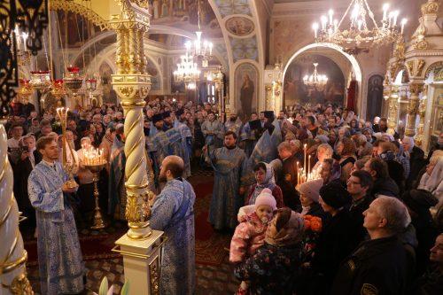 Управляющий Северо-Восточным викариатством совершил Божественную литургию в храме иконы Божией Матери «Нечаянная Радость»