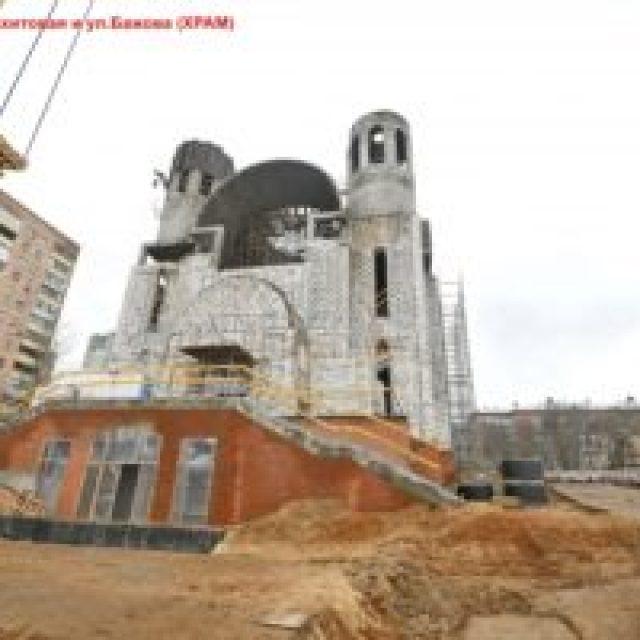 Храм равноапостольных Мефодия и Кирилла в Ростокине планируется достроить в этом году
