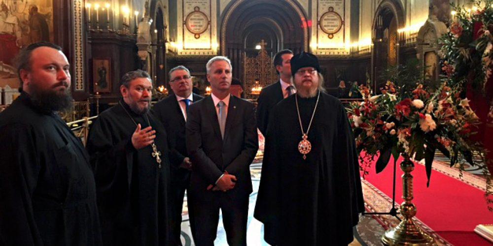 Посещение Венгерской делегацией Кафедрального Cоборного Храма Христа Спасителя