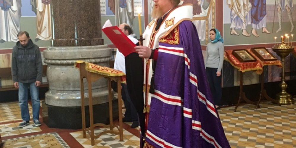 Вечернее богослужение в кафедральном соборе г. Вены