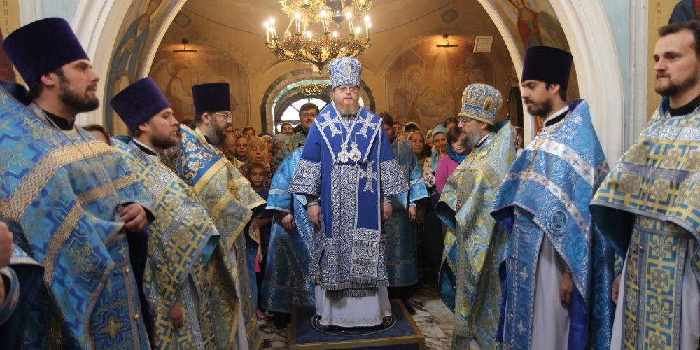 Престольный праздник в  храме Положения Ризы Пресвятой Богородицы во Влахерне в Леонове