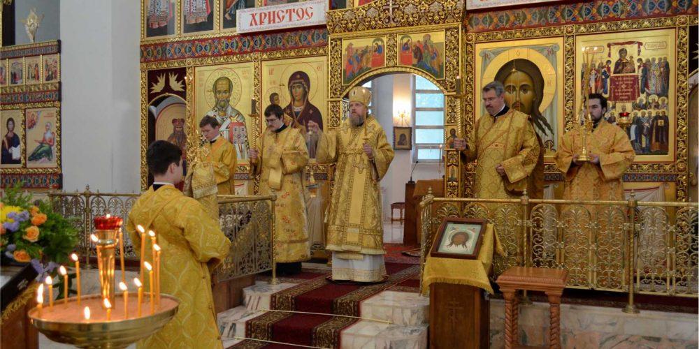 Епископ Иоанн совершил Всенощное бдение в храме Торжества Православия в Алтуфьеве