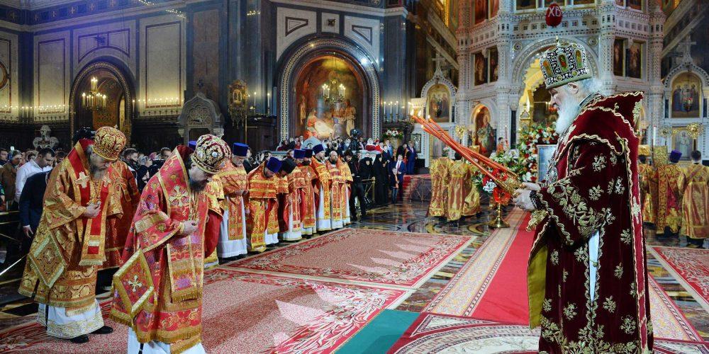 В праздник Светлого Христова Воскресения епископ Иоанн сослужил Святейшему Патриарху Кириллу в Храме Христа Спасителя
