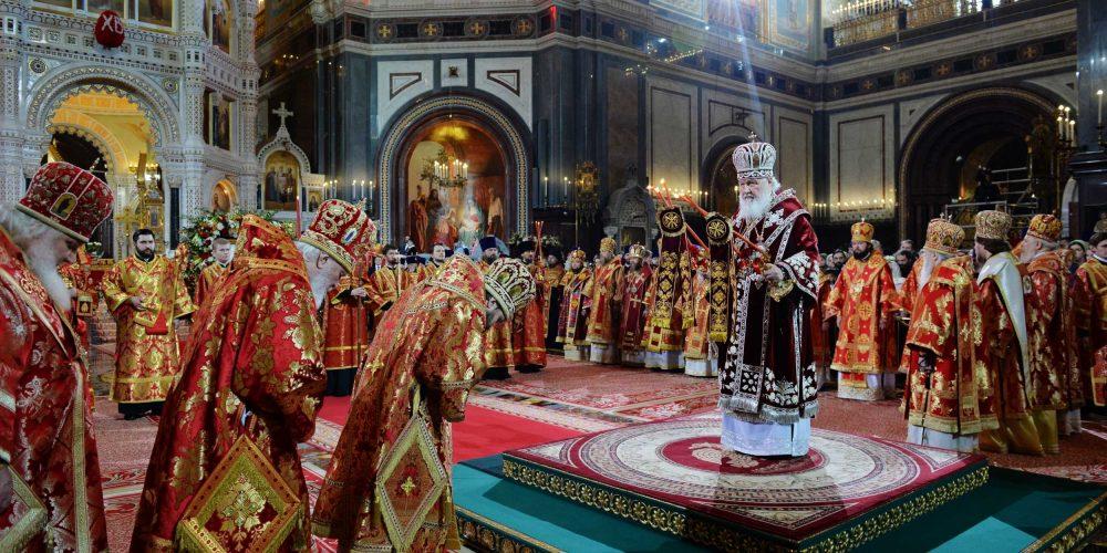 Пасхальная великая вечерня в Храме Христа Спасителя