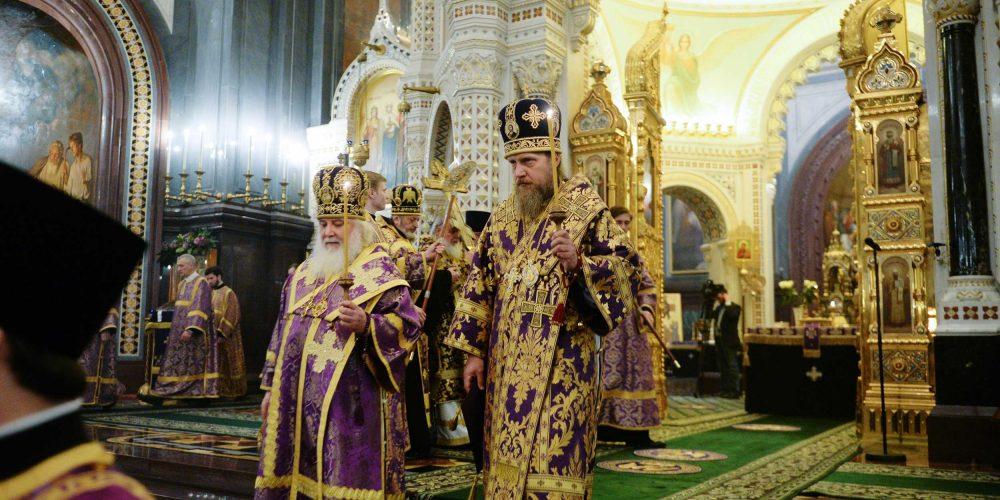 Епископ Иоанн сослужил Святейшему Патриарху Московскому и всея Руси Кириллу