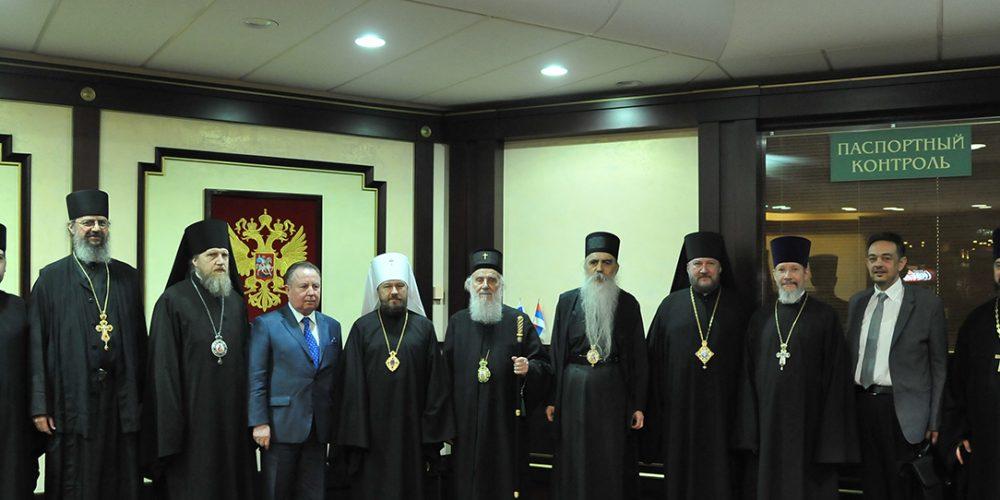 Епископ Домодедовский Иоанн сопровождал Патриарха Сербского на протяжении визита в Москву