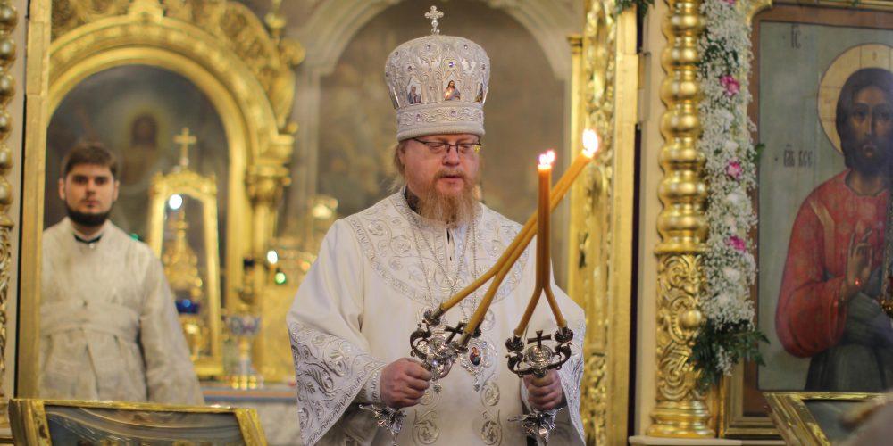 Божественная литургия в храме Рождества Пресвятой Богородицы во Владыкине