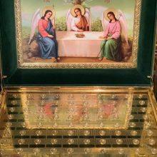 В храм Представительства Казахстанского митрополичьего округа принесен ковчег с мощами известных угодников Божиих
