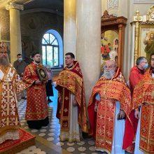 В день памяти прп. Александра Свирского митрополит Астанайский Александр совершил Литургию в храме на Миусском кладбище