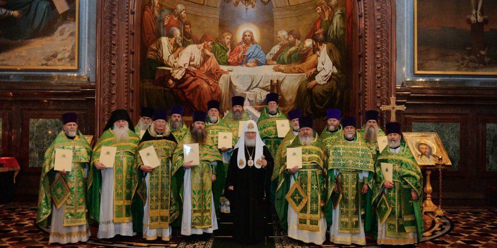 Клирики викариатства, удостоенные  богослужебно-иерархических наград к празднику СВЯТОЙ ПАСХИ