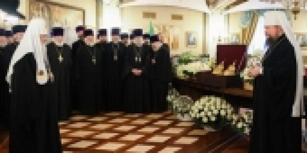 В одиннадцатую годовщину интронизации Святейшего Патриарха Кирилла в Храме Христа Спасителя состоялся торжественный прием