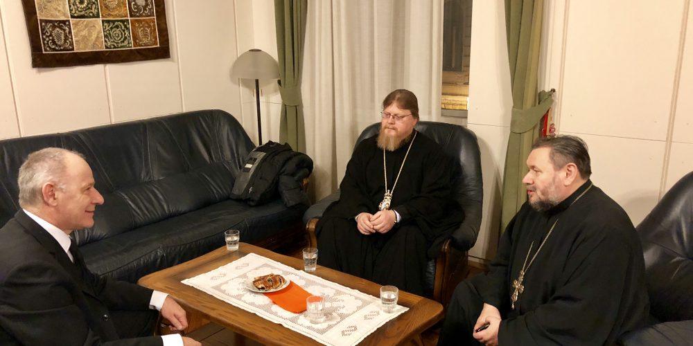 Рабочая встреча с главой Венгерской реформатской церкви епископом Иштваном Сабой