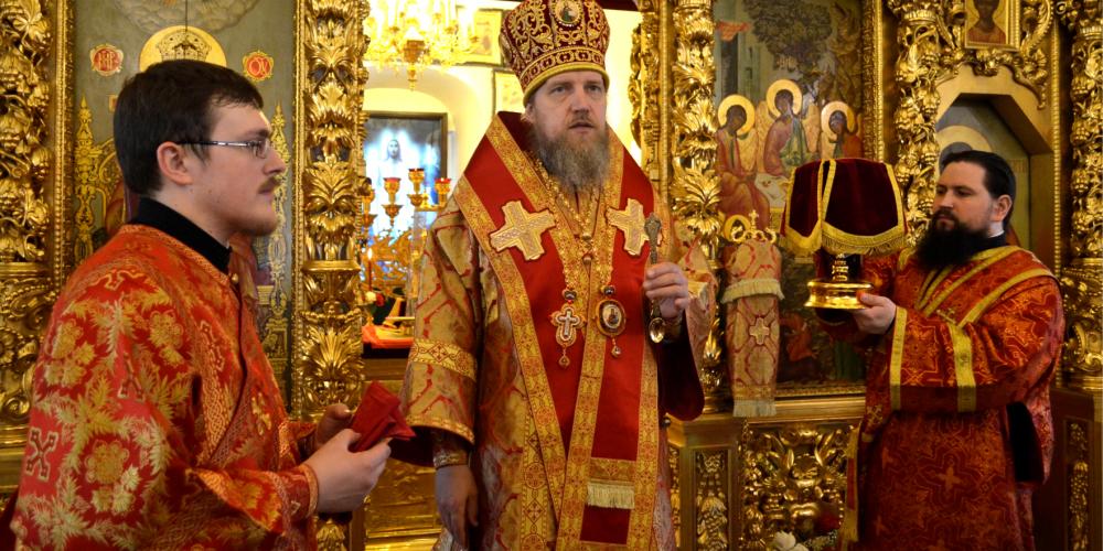 Архиерейская Литургия в храме Живоначальной Троицы в Усадьбе Свиблово