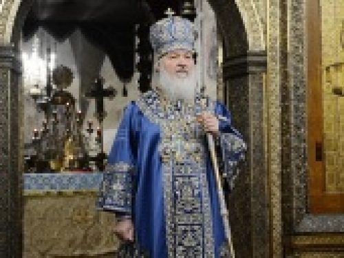 Проповедь Святейшего Патриарха Кирилла в праздник Введения во храм Пресвятой Богородицы в Успенском соборе Московского Кремля