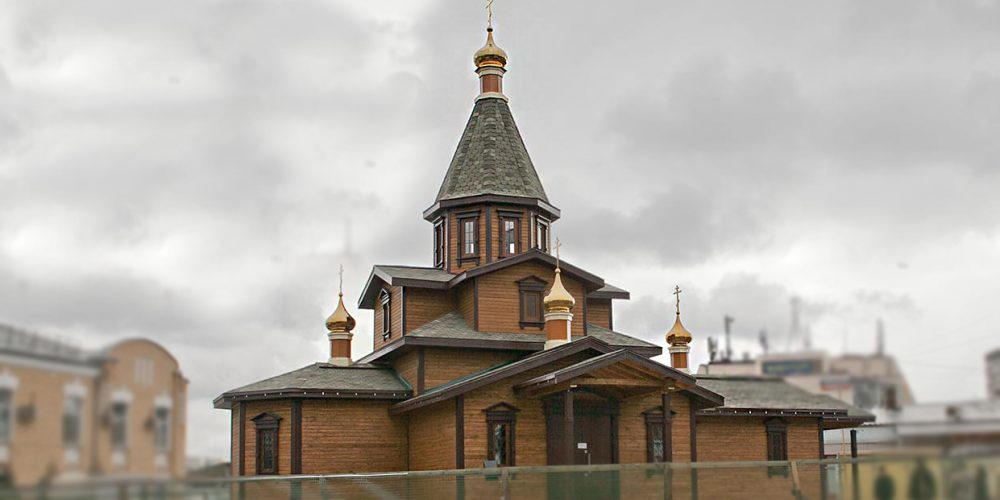 Посещение строящегося храма святителя Макария, митрополита Московского