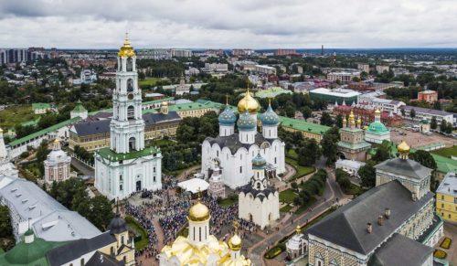 В день памяти преподобного Сергия Радонежского архиепископ Егорьевский Матфей принял участие в торжествах Свято-Троицкой Сергиевой лавры