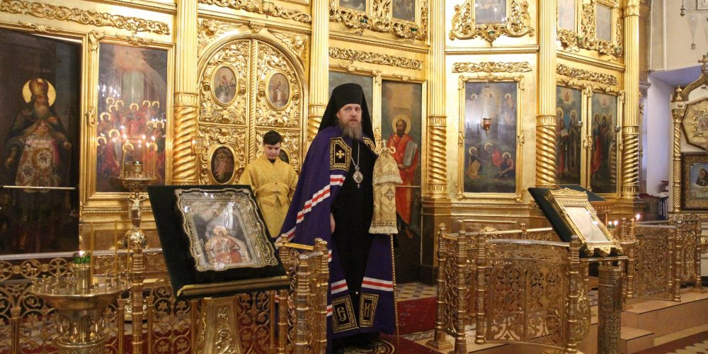 Епископ Иоанн совершил Всенощное бдение в канун Недели о Страшном суде