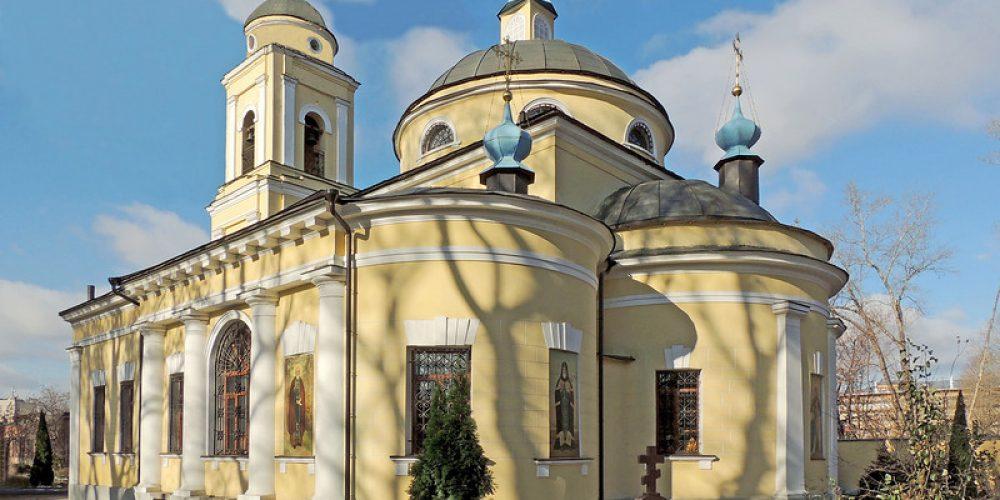 Богослужение в день памяти прп. Сергия Радонежского в храме на Миусском кладбище