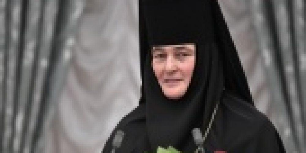 Патриаршее поздравление настоятельнице Покровского ставропигиального монастыря игумении Феофании (Мискиной) с 25-летием игуменского служения