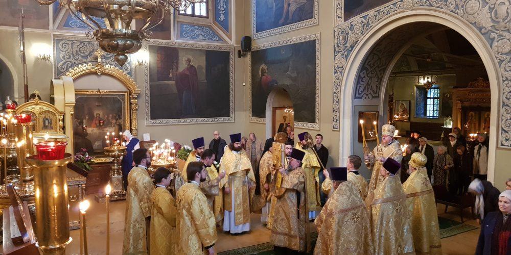 Божественная литургия в храме святителя Николая Чудотворца в Хамовниках