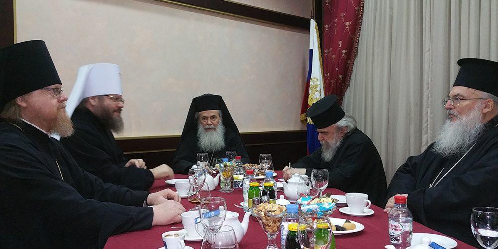В Москву прибыл Блаженнейший Патриарх Иерусалимский Феофил