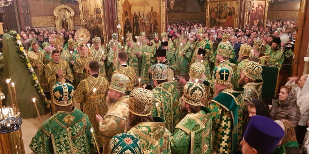 Всенощное бдение в канун дня памяти прп. Сергия Радонежского