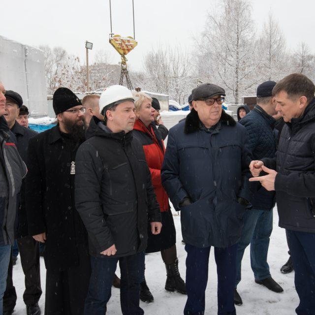 Архиепископ Егорьевский Матфей принял участие в объезде строящихся храмов