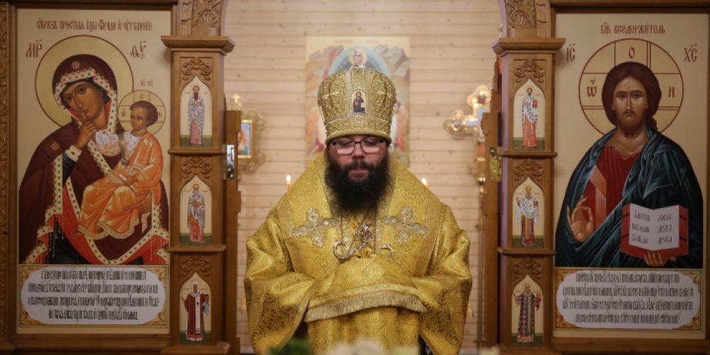 Архиепископ Егорьевский Матфей совершил Литургию в храме иконы Божией Матери «Отрада и Утешение» в Ярославском