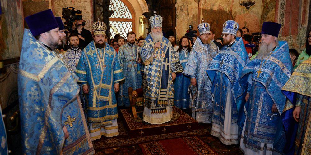 Престольный праздник в Благовещенском соборе Московского Кремля