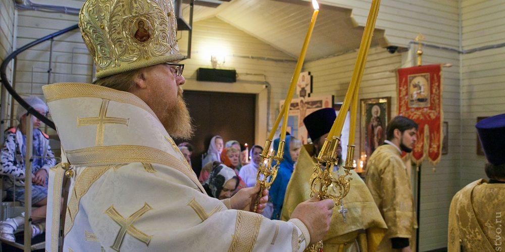 Богослужение в храме-часовне св. равноапостольного князя Владимира