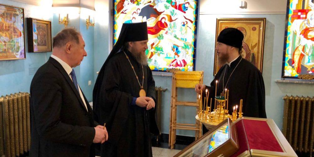 Епископ Домодедовский Иоанн посетил МФЮА