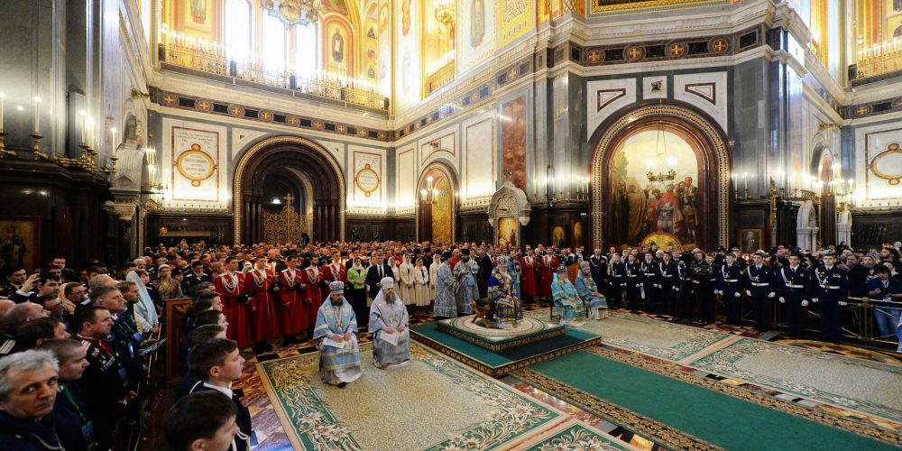 Епископ Иоанн сослужил Святейшему Патриарху Кириллу в праздник Сретения Господня